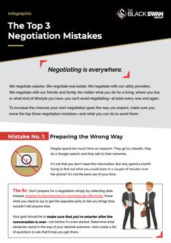 negotiation mistakes